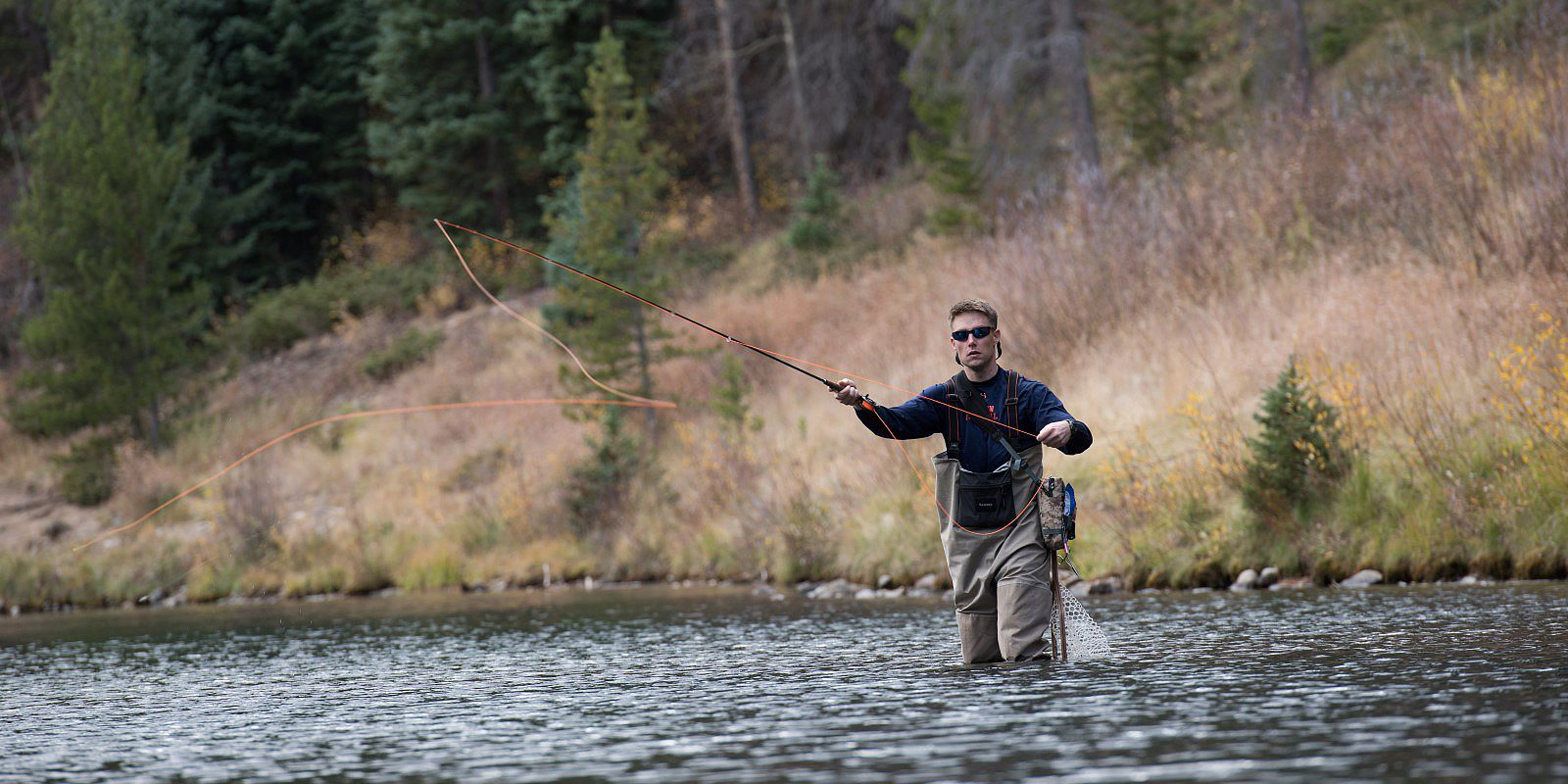 Man enjoying fishing